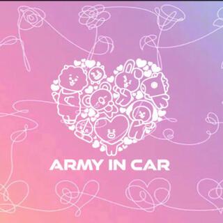 army in car Bt21ステッカー