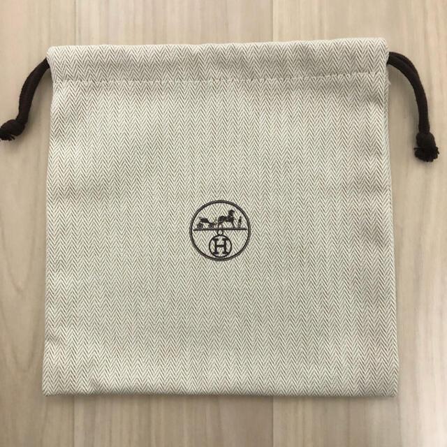 Hermes(エルメス)のHERMES エルメス 保存袋 巾着袋 布袋 ポーチ レディースのバッグ(ショップ袋)の商品写真