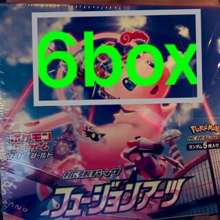 ポケモン(ポケモン)の新品未開封 フュージョンアーツ 6box ポケモンカード(Box/デッキ/パック)
