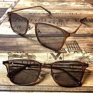 ゴールドメタル ライトグレー ウェリントン サングラス ボストン 眼鏡(サングラス/メガネ)