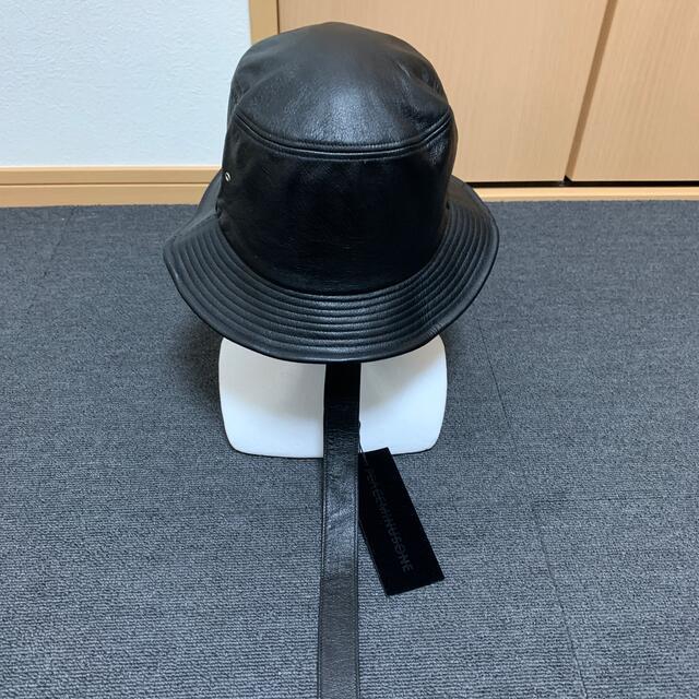 PEACEMINUSONE(ピースマイナスワン)のPeaceminusOne leather bucket hat メンズの帽子(ハット)の商品写真