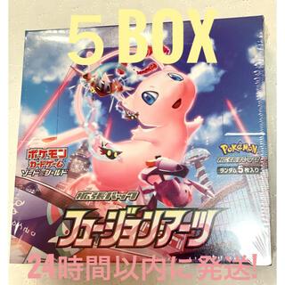 ポケモン(ポケモン)のポケモンカード フュージョンアーツ 5BOX ポケモン(Box/デッキ/パック)
