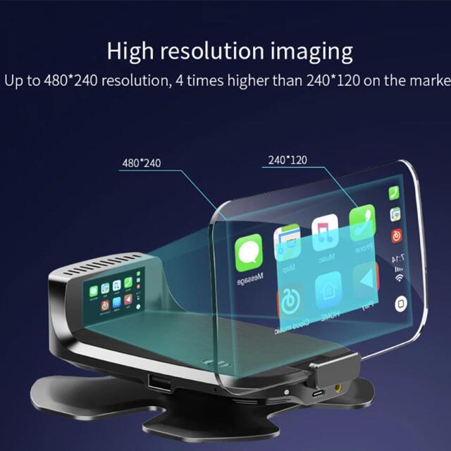 (難あり)ヘッドアップディスプレイ CarPlay Android auto 自動車/バイクの自動車(車内アクセサリ)の商品写真