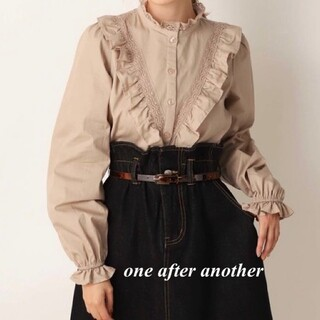 one after another NICE CLAUP - 新品 one after another プチハイフリルブラウス