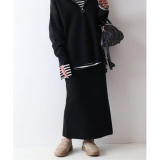 FRAMeWORK - 36★新品 FRAMeWORK コットンハリヌキスカート ブラック