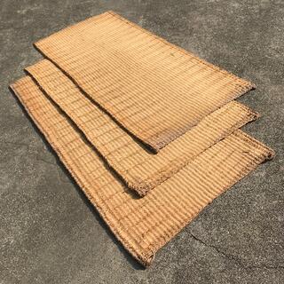 【A】むしろ3枚《筵 蓆 藁 古道具 古農具 古民具 養生資材 材料 中古》