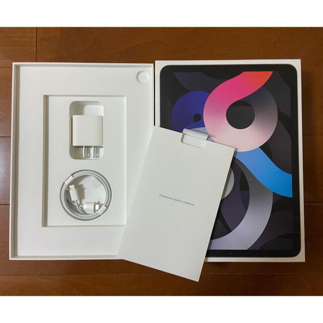 Apple(アップル)の【中古美品】iPad Air4 WI-FI 64G スペースグレーとおまけ スマホ/家電/カメラのPC/タブレット(タブレット)の商品写真