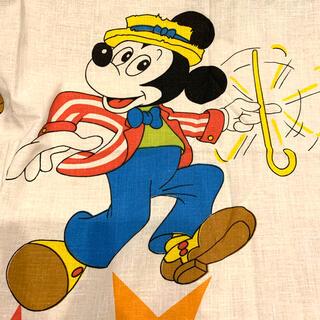 Disney - 【専用】スティック ミッキー トートバッグ ファスナー付き ビンテージシーツ