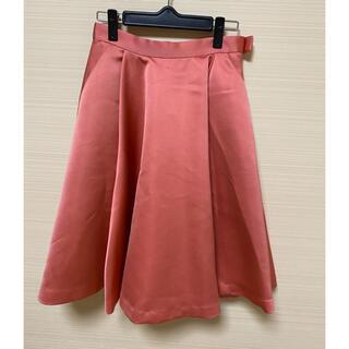 トランテアンソンドゥモード(31 Sons de mode)のサーモンピンク フレアスカート(ひざ丈スカート)