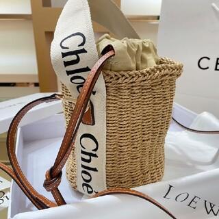 Chloe - Chloe  ホワイトリボン クロエ woody ウッディ ラージ かご バッグ