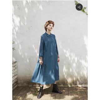 idem  side frill shirt onepiece   blue