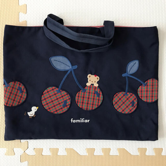 familiar(ファミリア)の♡familiar♡レッスンバッグ♡さくらんぼ♡リアちゃん♡ キッズ/ベビー/マタニティのこども用バッグ(レッスンバッグ)の商品写真