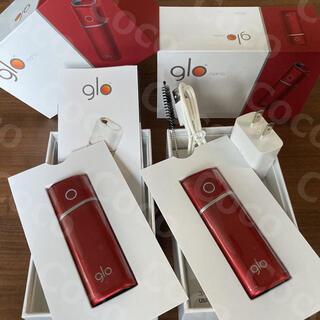 グロー(glo)の<新品> glo nano レッド2台セット 箱無し グローナノ 未使用(タバコグッズ)