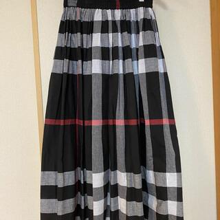 サマンサモスモス(SM2)の美品☆SM2 チェックロングスカート(ロングスカート)