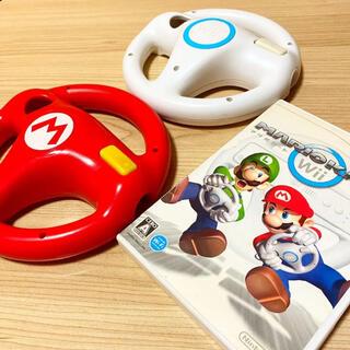 Wii - マリオカートWii+ハンドル2つセット