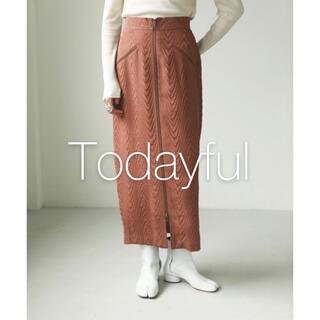 TODAYFUL - *最終値下げ* todayful ジャガードジップスカート