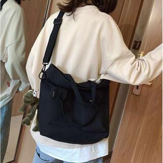 ⭐️新品⭐️人気 ショルダーバッグ キャンバス 韓国 斜めがけ おしゃれ 黒