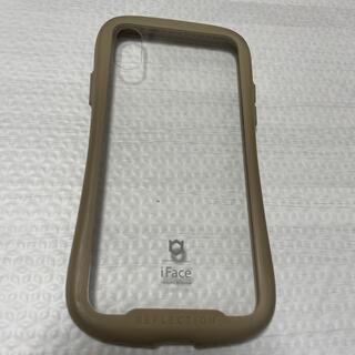 アイフォーン(iPhone)のiFace iPhoneXS カバー ベージュ(iPhoneケース)
