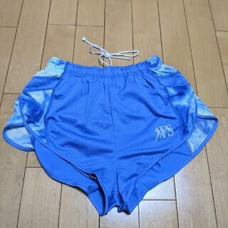 asics - アシックス asics レディースランニングパンツ ブルー  Mサイズ