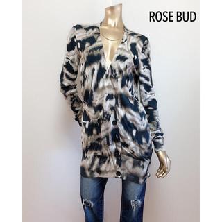 ROSE BUD - ROSE BUD レオパード カーディガン*インポート ビームス ナノユニバース
