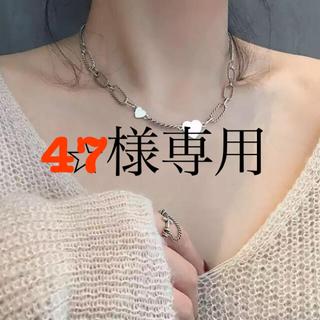 Ameri VINTAGE - ✴︎silver chain heart motif necklace✴︎