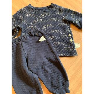 ユニクロ(UNIQLO)のユニクロ キルトパジャマ キルティング パジャマ 80(パジャマ)