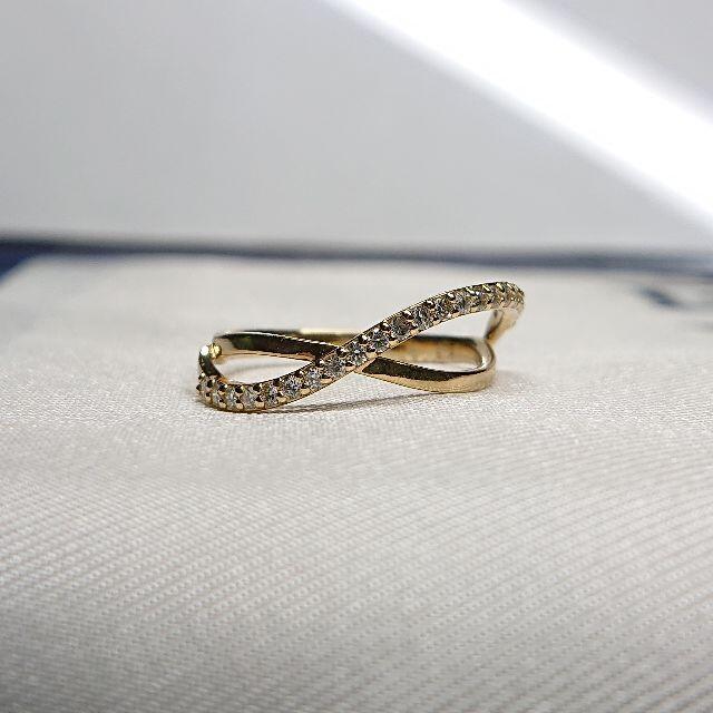 K18 ダイヤモンドリング レディースのアクセサリー(リング(指輪))の商品写真
