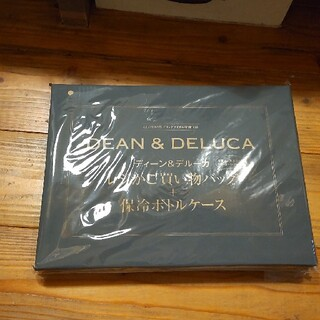 ディーンアンドデルーカ(DEAN & DELUCA)のGLOW8月号付録 DEAN&DELUCA  レジかご買物バッグ+保冷ボトルケー(エコバッグ)