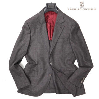 ブルネロクチネリ(BRUNELLO CUCINELLI)のブルネロクチネリ 39万新品最高級4種混合ブラウンジャケット(テーラードジャケット)