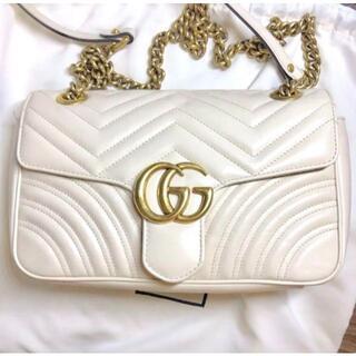 Gucci - GUCCI グッチ GGマーモントキルティング ショルダーバッグ