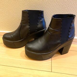 ダズリン(dazzlin)のdazzlin  厚底 サイドゴアブーツ ショートブーツ(ブーツ)