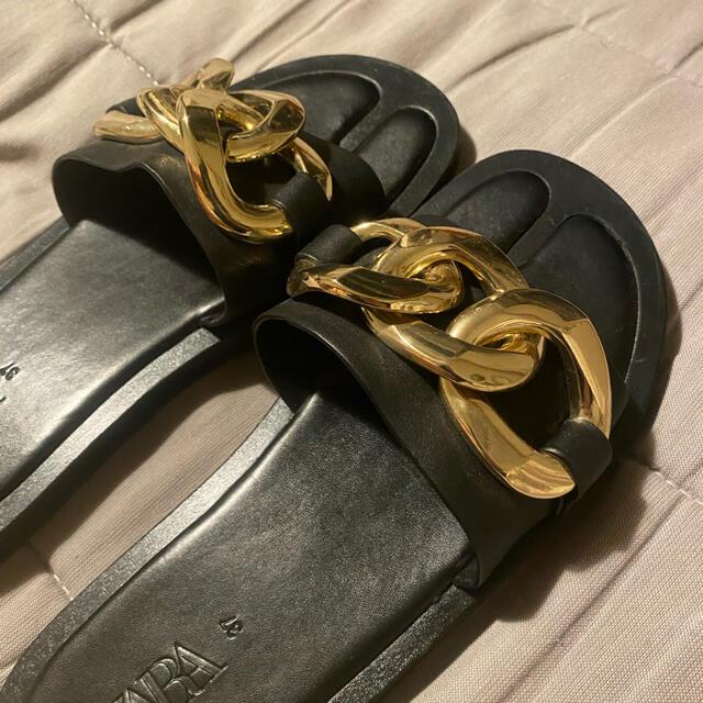 ZARA(ザラ)の今週限定最終売り切り価格‼︎ZARAチェーンサンダル レディースの靴/シューズ(サンダル)の商品写真