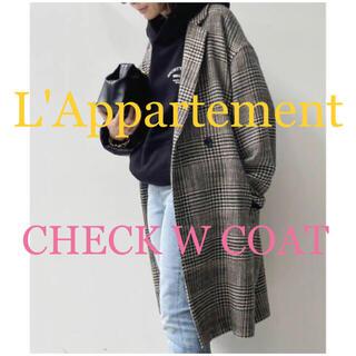 L'Appartement DEUXIEME CLASSE - L'Appartement♡2021AW新作♡CHECK W COAT♡ブラック