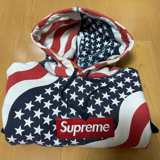 Supreme - Supreme Box Logo Pullover Hoodie 星条旗 L