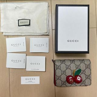 Gucci - GUCCI 二つ折り財布 さくらんぼ