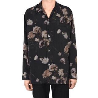 LAD MUSICIAN - LAD MUSICIAN 花柄パジャマシャツ 42 ブラック