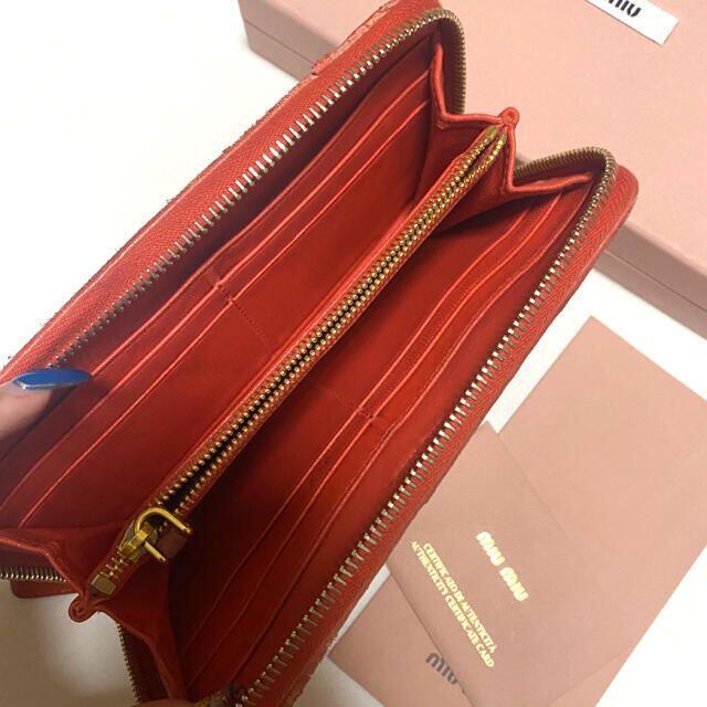 miumiu(ミュウミュウ)のMiumiu長財布 オレンジ レディースのファッション小物(財布)の商品写真