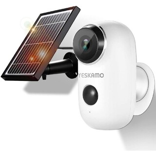 YESKAMO 防犯カメラ 130°超広角 ソーラーパネル 人体感知 双方向通話(防犯カメラ)