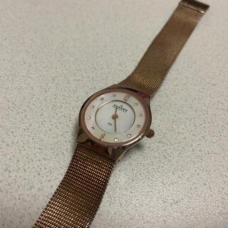 スカーゲン(SKAGEN)のスカーゲン ゴールド時計(腕時計)