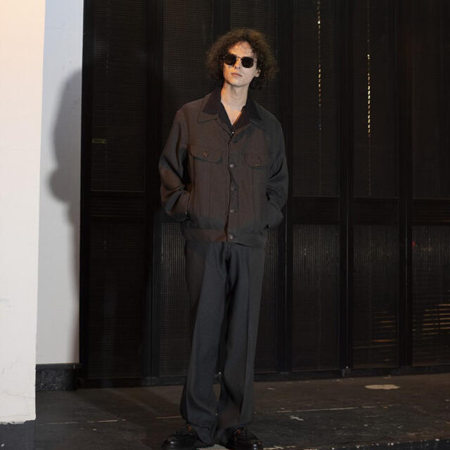 Jieda(ジエダ)のDAIRIKU Flasher Pressed Pants グレーヘザー 27 メンズのパンツ(スラックス)の商品写真
