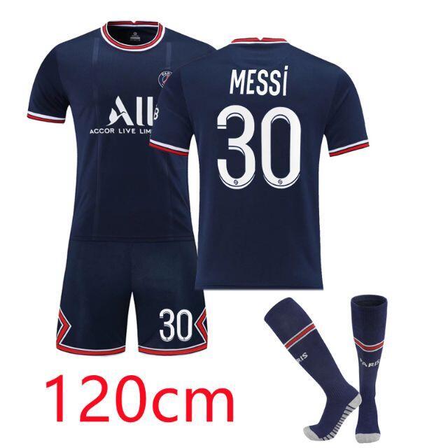 新品入荷!パリ サンジェルマン メッシ 子供サッカーユニフォーム120cm スポーツ/アウトドアのサッカー/フットサル(ウェア)の商品写真