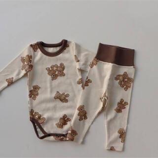 ZARA KIDS - 韓国子供服 くま ロンパース パンツ セットアップ パジャマ 73