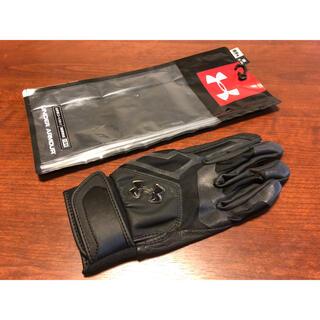 アンダーアーマー(UNDER ARMOUR)の新品 アンダーアーマー バッティンググローブ 手袋 SM(22-23)ブラック(グローブ)