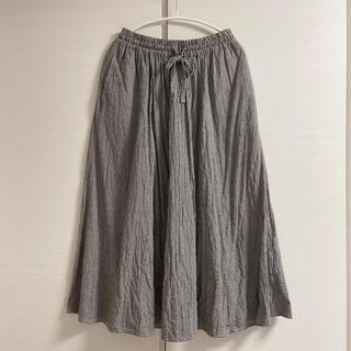 サマンサモスモス(SM2)のサマンサモスモス ギャザーフレアスカート ブラック(ロングスカート)