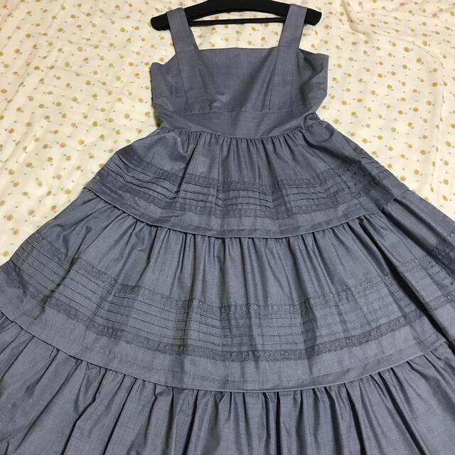 DOUBLE STANDARD CLOTHING(ダブルスタンダードクロージング)のダブスタ Sov.  ワンピース グレー 36 ダブルスタンダードクロージング レディースのワンピース(ロングワンピース/マキシワンピース)の商品写真