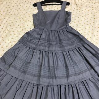 ダブルスタンダードクロージング(DOUBLE STANDARD CLOTHING)のダブスタ Sov.  ワンピース グレー 36 ダブルスタンダードクロージング(ロングワンピース/マキシワンピース)