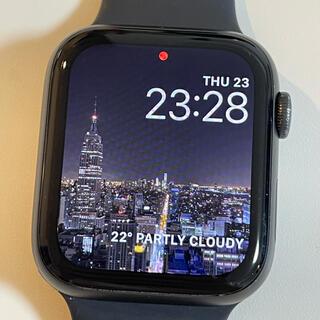 アップル(Apple)のApple Watch 5 GPS 44mm バッテリー100% ほぼ未使用(その他)
