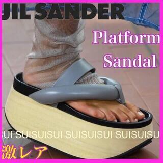 Jil Sander - JIL SANDER プラットフォーム サンダル 厚底 下駄 サンダル 靴
