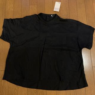ムジルシリョウヒン(MUJI (無印良品))の五分袖ブラウス M-L  無印良品(シャツ/ブラウス(半袖/袖なし))