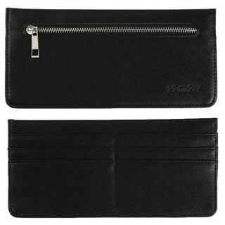極薄 財布 スリムウォレット 薄型 小銭入れ ブラック